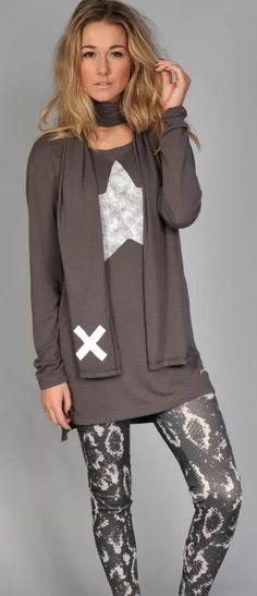 Tunic Dress Etoile - Taupe LEGGING