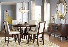 picture of Cindy Crawford Home Philadelphia 5 Pc Counter Height Dining Room  from Dining Room Sets Furniture