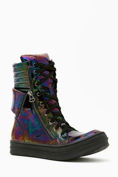 Kirk Platform Sneaker - Oil Slick