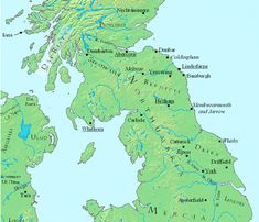 Northern and central Britain, c. 700