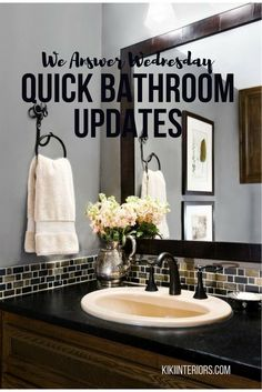 quick and easy bathroom updates affordable updates for the bathroom interior decorating dyi - Home Styling Blogs