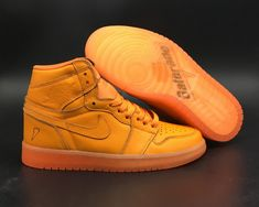 61208b5ab9 Air Jordan 1 Gatorade Orange Peel For Sale, Fully covered in an Orange Peel  hue. This Air Jordan 1 features a full leather constructed upper with Nike  Air ...