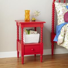 Jenny Lind Small Nightstand (Raspberry) | The Land of Nod