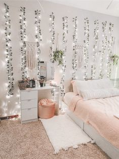 room decor diy redid my room over break and i can say i am SO happy i. Cute Bedroom Decor, Cute Bedroom Ideas, Girl Bedroom Designs, Teen Room Decor, Stylish Bedroom, Room Ideas Bedroom, Bedroom Inspo, Diy Bedroom, Dream Bedroom
