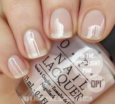 Best Nail Polish Colors of 2019 for a Trendy Manicure Pink Toe Nails, Pink Toes, Opi Nails, Nude Nails, Opi Pink Nail Polish, Light Pink Nail Polish, Light Nails, Clear Nail Polish, Coffin Nails