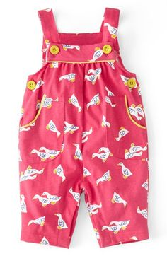 Mini Boden Print Jersey Overalls (Baby Girls) available at #Nordstrom