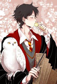 Snape Harry, Harry James Potter, Harry Potter Anime, Harry Potter Fan Art, Drarry Fanart, Fantastic Beasts, Hogwarts, Chibi, Drawings