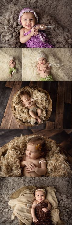 3 month old baby girl portrait session