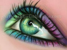 New Hair Green Eyes Eyelashes Ideas How To Draw Eyelashes, Eyelashes Drawing, Fake Eyelashes, False Lashes, Teal Eyes, Blue Green Eyes, Green Hair, Teal Blue, Make Up