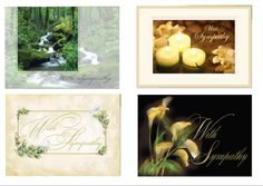 Sympathy cards.  When you need a sympathy card, you really don't feel like going to the store to get one.  And why would you want to when you can create cards like these on your computer and have the postage here too.  For $1.42 per card.