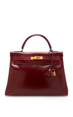 Shop Hermes 32Cm Rouge H Calf Box Leather Retourne Kelly by Heritage Auctions Special Collections - Moda Operandi
