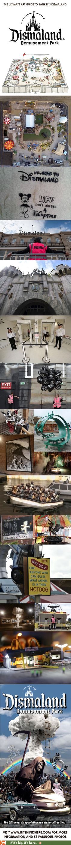 The Ultimate Art Guide to Banksy's Dismaland | http://www.ifitshipitshere.com/the-art-guide-to-dismaland/
