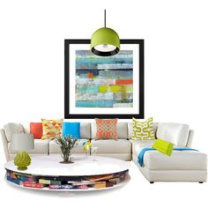 """""""bright living area"""" by designsbygenevieveinteriors on Polyvore"""