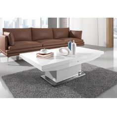 Elgin Extending Coffee In To A Dining Table In White Gloss Coffee Table Convert To Dining Table, Glass Dining Table, Wooden Dining Tables, Round Coffee Table, Extendable Dining Table, Modern Coffee Tables, Round Dining Table, Table And Chairs, Tea Table Design