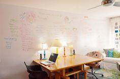big whiteboard wall