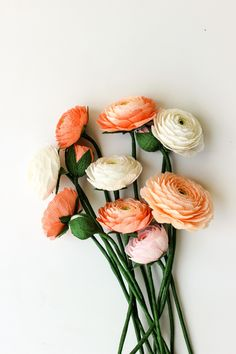 Ranunculus, Paper, Handmade, Flowers, Hand Made, Persian Buttercup, Handarbeit