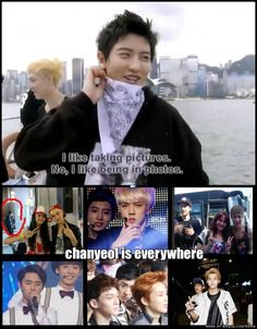 Chanyeol is everywhere