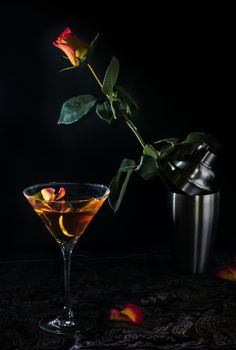 The Rising Rose martini