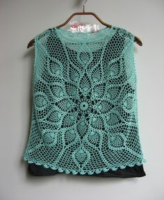 """Crochet lace version of """"Lotus"""" - Water Heart clouds - clouds of water Heart…"""