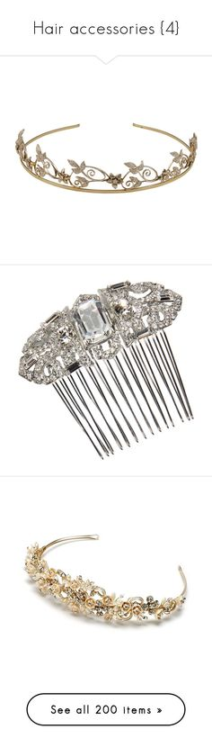 """""""Hair accessories {4}"""" by delamole ❤ liked on Polyvore featuring accessories, hair accessories, crowns, tiaras, jewelry, rose crowns, crown tiara, fred leighton, rose hair accessories and tiara crown"""