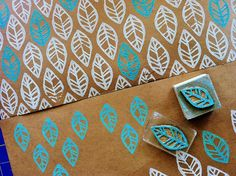 handprint wrapping paper ... potato printing