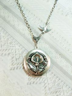 Calla Lilly locket necklace