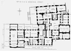 Downing Street Floor Plans - London, UK
