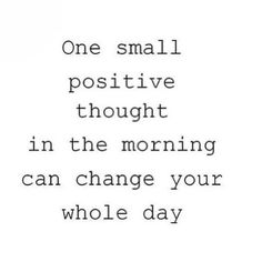 Positivity is
