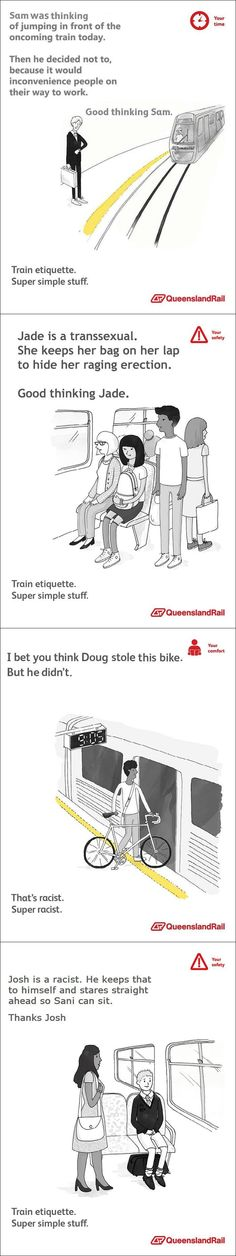 Train etiquette. Super simple stuff