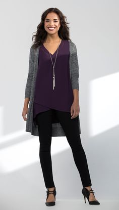 Great DEEP colors in black, gray and purple for DEEP gals.