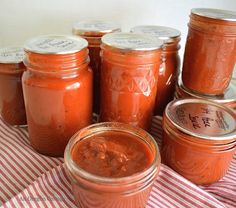 Make your own home canned pizza sauce from fresh tomatoes OR from tomatoes that were frozen during the gardening season, which will reduce cooking time.