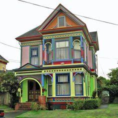. #Victorian house - #rainbow colors