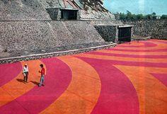 Estadio Olimpico Universitario en el Momento de la XIX Olimpiada de México 68