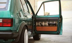 Mk1 Golf with grandma's livingroom interior // PLUSH AS FUCK!! I want to lick this car from fender to fender