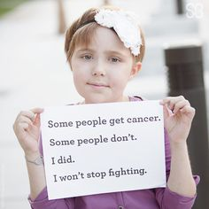 We won't stop fighting for children with cancer