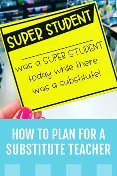 How to Plan for a Substitute Teacher | True Life: I'm a Teacher