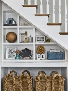 Under staircase shelves