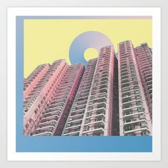 These up-close photographs of buildings by independent artists from Society6 look more like abstract, geometric works of art.