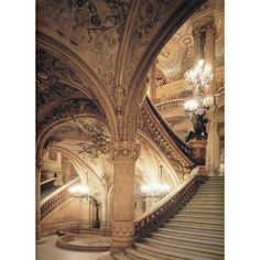 pre-raphaelisme: Stairway, Opera Garnier, Paris... ❤ liked on Polyvore featuring backgrounds, pictures, photos, fairytales and fantasy