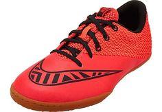 Nike Kids MercurialX Pro Indoor Shoes - Bright Crimson