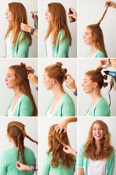 Another way to create luscious beach waves:)