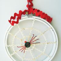 Button Spider with Web | Halloween Home Decor