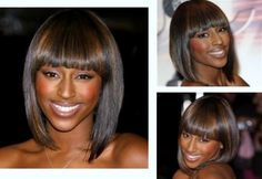 Straight bob with a blunt cut fringe #Hairstyles #Shorthaircuts