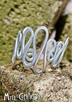 Bracelet aluminium wire / Bracciale in alluminio - Myle's Creations