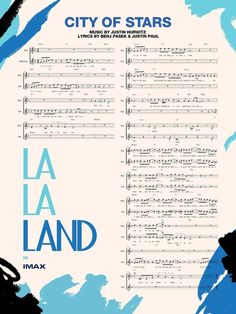 La La Land Hi-Res Movie Poster City Of Stars Musical Notes