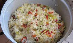 Čalamáda_na_studeno Cheeseburger Chowder, Pickles, Tapas, Mashed Potatoes, Cauliflower, Cabbage, Good Food, Food And Drink, Soup