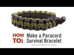 How to make Cobra Weave (Solomon Bar)two color paracord bracelet - YouTube