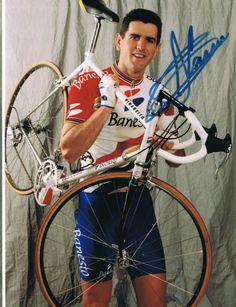 Miguel Indurain Autograph - Autógrafo #Team #Banesto Pro Cycling, Cyclists, Racing, Portraits, Bike, Photos, Vintage, Hs Sports, Old School