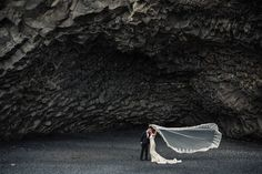 Black Sand Beach Iceland  A beautiful spot with some amazing basaltic rock formations this is one place I wouldn't miss if you're heading to Iceland! The waves are terrifyingly powerful - be very careful when taking photos! - Photo by: Bragi Thor (@icelandweddingphoto) View their profile on OneThreeOneFour.com to view their rates and work. Book your photoshoot adventure with #OneThreeOneFour. // Find and book your wedding photographer on www.onethreeonefour.com