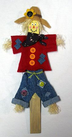 Paint Stick Scarecrow - cute to put with your potted fall flowers